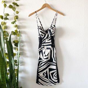 Rubber Ducky Production Geometric Print Slip Dress